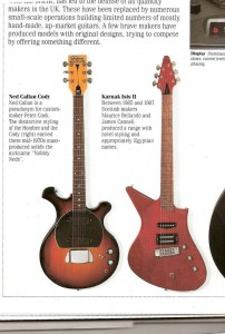 Extract from The Ultimate Guitar Book by Tony Bacon. Published by Dorling Kindersley