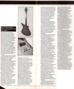 Egypt Pharaoh Isis review by Dave Burluck in International Musician Dec 1986