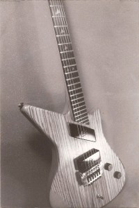 Egypt Guitars Isis second prototype showing pyramid inlays